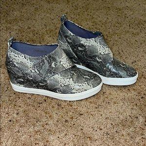 Snakeskin Wedge Sneaker